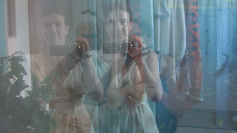Alexandra Hidalgo's image blended with her grandmother's in A Family of Stories
