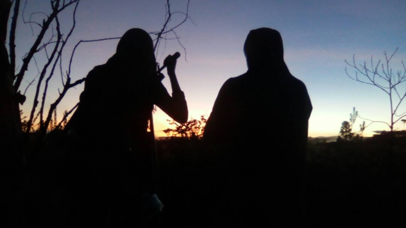 Amanda Perez and Rober Calzadilla filming the sunrise in the Gran Sabana for A Family of Stories